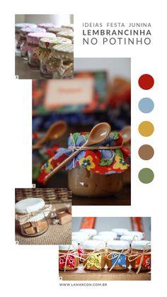 Inspirações de Lembrancinhas para Festa Junina Manta Ray, Jars, Creativity