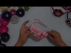 Tiara com flores customizadas com pérolas. - YouTube