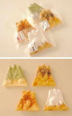 Fuji Mountain shape Cookies 煎屋ー手焼きせんべい富士山