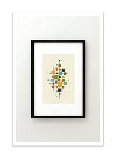 AREA - Giclee Print - Mid Century Modern Danish Modern Minimalist Cubist Modernist Abstract Eames. $24.00, via Etsy.