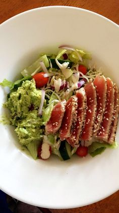[Homemade] Seared Ahi Tuna Salad http://ift.tt/2o1oZ6H #TimBeta
