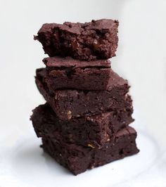 Vegane Brownies mit Kidneybohnen - Healthy On Green