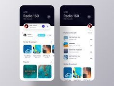 Broadcasting iOS App UI Exploration on Behance Ui Design Mobile, App Ui Design, User Interface Design, Flat Design, Design Design, Design Trends, Wireframe, Radios, Application Ui Design