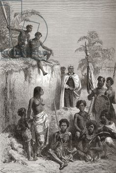 Hawaiian King Kamehameha I and his warriors, illustration from 'The World in the Hands', published 1878 (engraving)