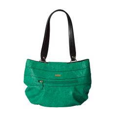 Imagine the rich green of a dew-dropped rainforest at dawn. That cool, refreshing color is perfectly captured in the Dena for Demi Miche bags. Bright kelly green faux lizard features a roomy front zippered pocket and piecing along the top with contrasting black-painted edges that lend a little extra drama. Gold hardware and streamlined oval-bottom design. *Miche Canada* #miche #michecanada #michefashion #fashion #style #purses #handbags #accessories