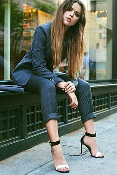 preludetoreality:  Hugo Boss Suit   Kristina Bazan   Women in Suits #156