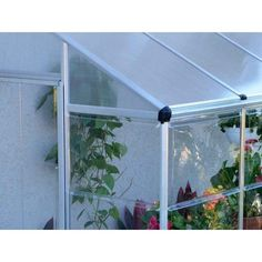 Lean To Grow House - x 4 Lean To Grow House - x Greenhouse, Palram- Tilij Hydroculture Lean To, Organic Herbs, House, Courtyards, Haus, Home, Homes