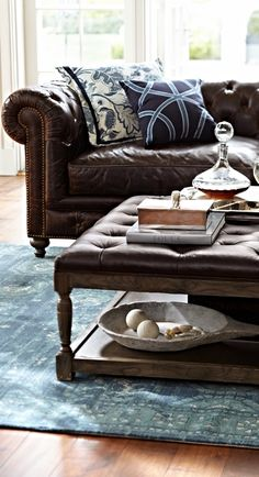 Barrow Chesterfield Leather Furniture Collection
