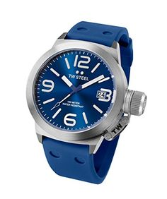 TW Steel Canteen Blue Dial Blue Silicone Mens Watch TW500 -- Check this awesome product by going to the link at the image. (This is an Amazon affiliate link)