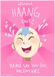 Nerdy Valentines, Funny Valentines Cards, Avatar Aang, Avatar The Last Airbender, Super Smash Bros 64, Avatar World, Studio Ghibli Movies, Team Avatar, Fire Nation