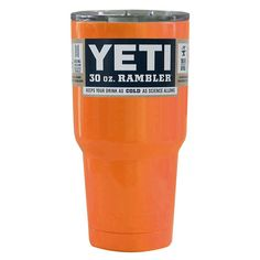 YETI Orange Gloss 30oz Rambler Tumbler Yeti Cup e1bd55260739