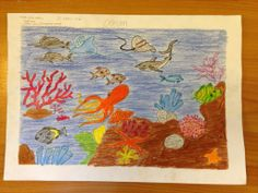 Aishath Buta Shathiv - Age 11 Drawing Competition, Ocean Day, Marine Conservation, Oceans Of The World, Age, Drawings, School, Sketches, Drawing
