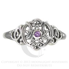 Wiccan and Pagan Pentacle Engagement Rings and Handfasting Wedding ...