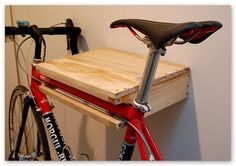 The first product by Make is this wall mounted bike rack and shelf to store your bike inside and expose it. Description from pinterest.com. I searched for this on bing.com/images