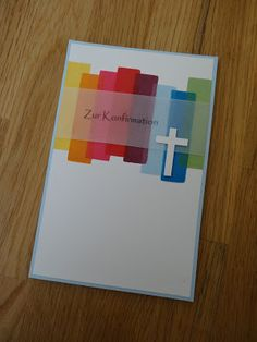 Jennys Papierwelt: ~ Schlichte Konfirmationskarte ~