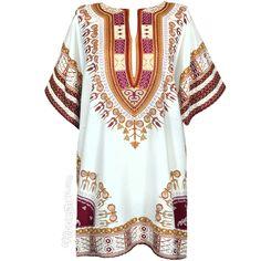 Natural Dashiki Shirt on Sale for $15.95 at HippieShop.com