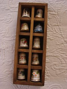 Franklin Mint Porcelain Thimbles Buttrerflys Utah by Finders2, $12.00