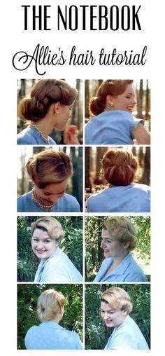 The notebook movie Allie's lake hair style tutorial from Va-Voom Vintage