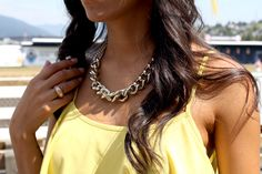 Yellow dress gold chain http://the-unprecedented.ca/hindsight-is-2020/