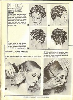 Vintage Hairstyles Tutorial Vintage Guide To Pin Curls Vintage Hairstyles For Long Hair, Vintage Hairstyles Tutorial, 1940s Hairstyles, Curled Hairstyles, Diy Hairstyles, Updo Hairstyle, Wedding Hairstyles, Pelo Vintage, Vintage Curls