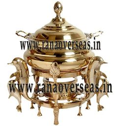 BRASS CHAFING DISH  dining purposes in leading restaurants, hotels, caterers, banquet halls, parties and functions and other eating outlets. Brass Chafing Dishes are also ideal gift items. An extensive range of our Brass Chafing Dishes includes superior quality Decorative Brass Chafing Dishes that are fabricated from supreme quality metals.  Mirror Finish, Corrosion resistant, Easy to clean and Perfect finish. Available Sizes :- 4 Litres, 6 Litres and 8 Litres.