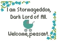 Stormageddon Doctor Who Baby CrossStitch by IStitchForTheUsers, $3.00