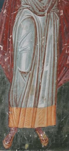 There is a link with this post which gives access to a good collection of drapery in iconography Icon Clothing, Church Interior, Best Icons, Byzantine Icons, Painted Clothes, Orthodox Icons, Detail, Painting, Tempera