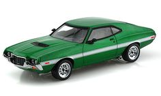 Fast and Furious 1972 Ford Gran Torino Green Greenlight Model Cars Kits, Kit Cars, Diecast Model Cars, Fast And Furious, Ford Models, Car Accessories, Scale Models, Hot Wheels, Vehicles