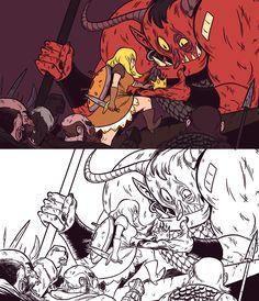Jonatan Cantero's Fantasy illustrations on Behance