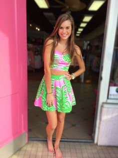 Pineapple Party! Lilly Pulitzer Parfait Set  Spring 2016  Pink Bee Greenville, SC