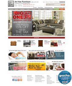 """Art Van Furniture Website - """"WebSphere Commerce made"""" #webspherecommercemade #ecommerce"""