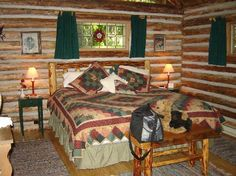 The very cozy cabin bedroom - Picture of Guest House Log Cottages ...