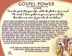 Gospel Power - 21st Sunday in Ordinary Time