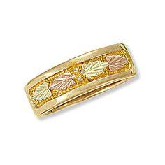 Landstroms Ladies Black Hills Gold Wedding Ring | Wedding Band - D2165 via Polyvore