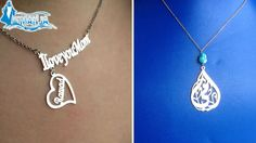 Mother's Day 24K Gold Plated or Rhodium Customized Necklace/Bracelet from iemanja (starting from $28 instead of $48)