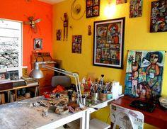The wonderful studio of Dan Casado on the Island of El Hierro, Canary Islands.