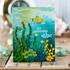 Keep Swimming Card by Betsy Veldman for Papertrey Ink (June 2018)