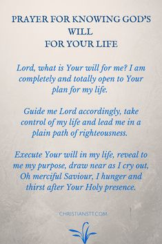 Prayer for Knowing God\'s Will For Your Life
