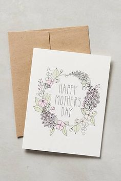 Mother's Day Garland Card