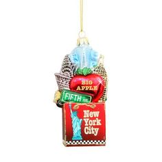 New York City Shopping Glass Ornament New York City Shopping, Glass Ornaments, Christmas Ornaments, Empire State Building, Party Favors, Holiday Decor, Gifts, Presents, New York Shopping