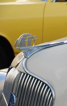1935 Plymouth hood ornament - photo by Matt Jury