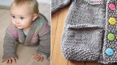 Petra Cardigan instructions.  would be cute for either a boy or girl depending on the colors used.