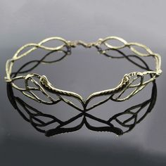 LORD OF THE RINGS HOBBIT ANTIQUE ELVEN LEAF CROWN ELROND LOTR WEDDING CIRCLET #Headband