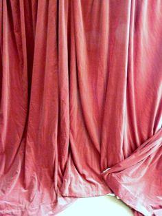shabby chic dusky pink velvet curtains