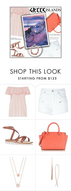 """""""Pack and Go: Greek Islands"""" by fashionbrownies ❤ liked on Polyvore featuring MDS Stripes, Pierre Balmain, Manolo Blahnik, Michael Kors, Lana Jewelry, Nest, polyvoreeditorial, Packandgo and greekislands"""