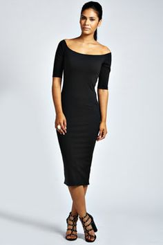 Adele Off The Shoulder Midi Dress