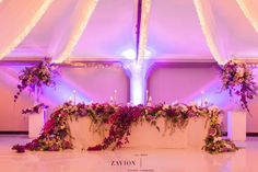 Greek themed wedding with beautiful pastel colours, colors, hanging arrangements, delphiniums, orchids, hydrangeas, roses, bougainvillea, suspended florals, Zavion Kotze Delphiniums, Hydrangeas, Greek Wedding, Our Wedding, Pastel Colours, Event Company, Bougainvillea, Wedding Styles, Orchids