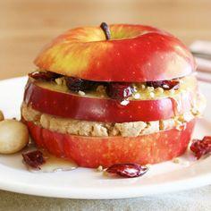 """WHAT!? Triple-Layered Breakfast Apple """"Sandwich"""""""