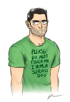 I am a service Derek Art Print by kendrawcandraw
