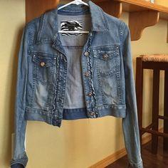 WHBM denim jacket WHBM jacket NEW! White House Black Market Jackets & Coats Vests